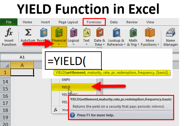 YIELD Function in Excel
