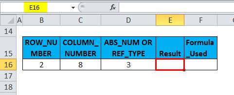 ADDRESS Example 2-1