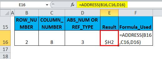 ADDRESS Example 2-5