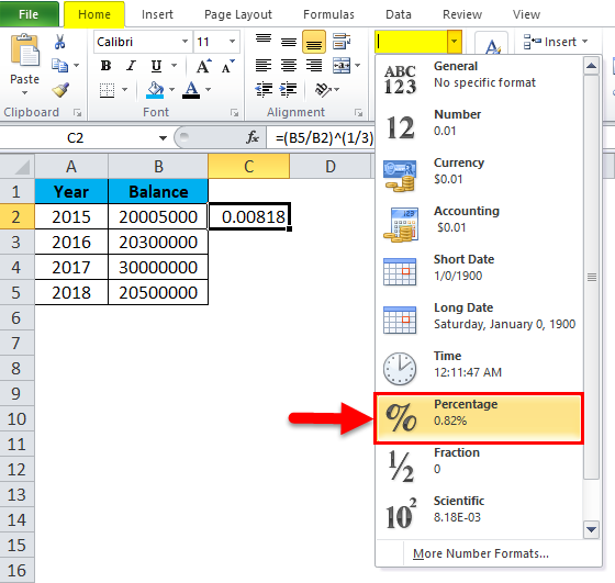 CAGR Formula in Excel (Examples) | How to Use CAGR Formula?