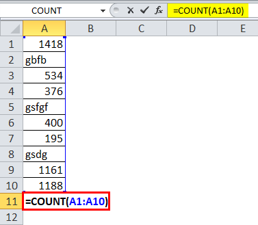 COUNT Function 1-1