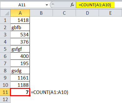 COUNT Function 1-2