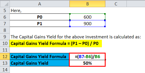 Capital Gains Yield Example 1-1