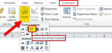 CheckBox Developer tab 3