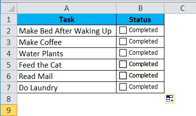 CheckBox Example 2-5