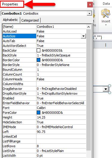 Combo Box Example 2-8