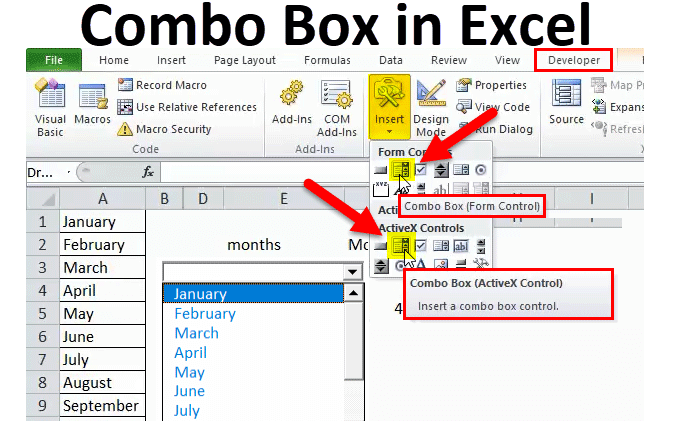 Combo Box in Excel (Examples) | How to Create Combo Box in