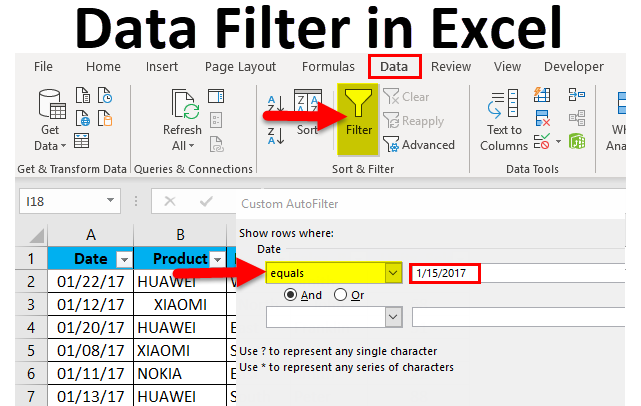 Data Filter in Excel