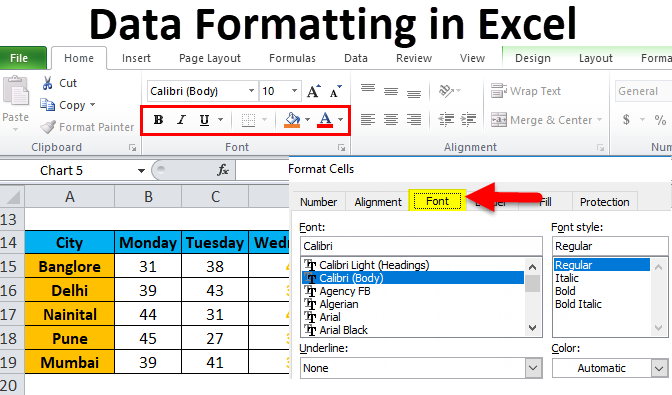 Data Formatting in Excel