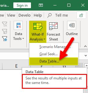 Data Table Description