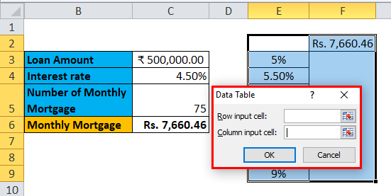 Data Table Example 1-5