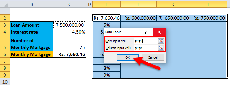 Data Table Example 2-5
