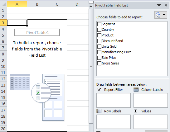 Delete Pivot Table Step 1-3
