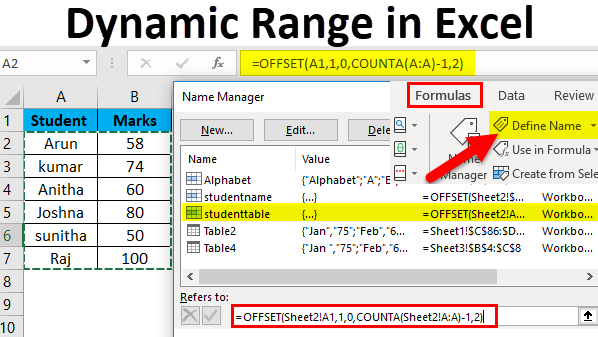 Dynamic Range in Excel