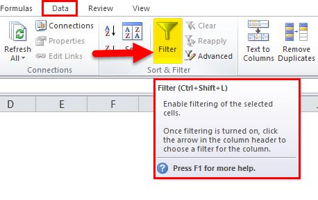 Excel AutoFilter Step