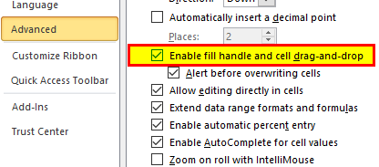 Excel Fill Handle Step 4