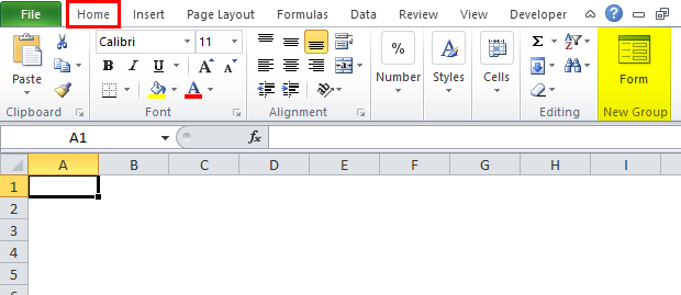 Excel Form Step 7