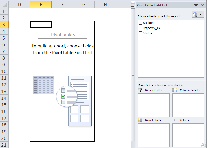 Excel Pivot Table Example 1-4