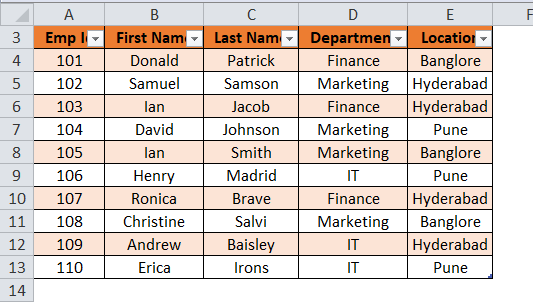 Excel Table Step 2-2