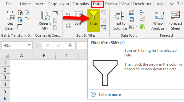 Data Filter in Excel (Examples) | How to Add Data Filter in Excel?
