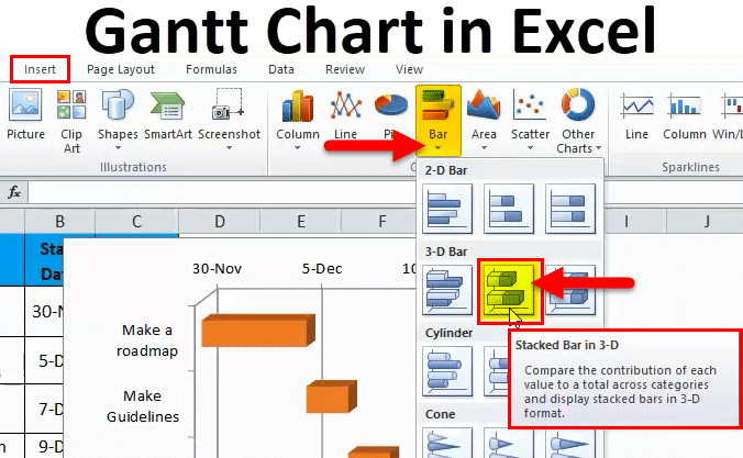 Gantt Chart In Excel Examples How To Create Gantt Chart In Excel