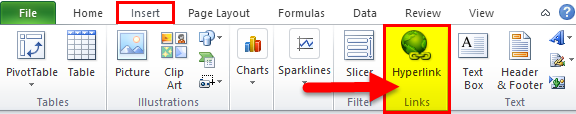 HYPERLINK option in Excel