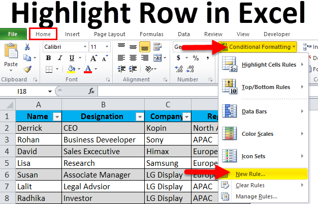 Highlight Every Other Row in Excel