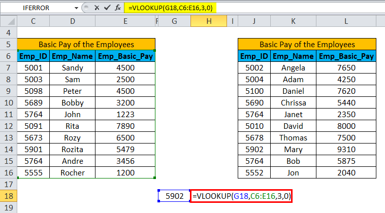 IFERROR with VLOOKUP Example 2-2
