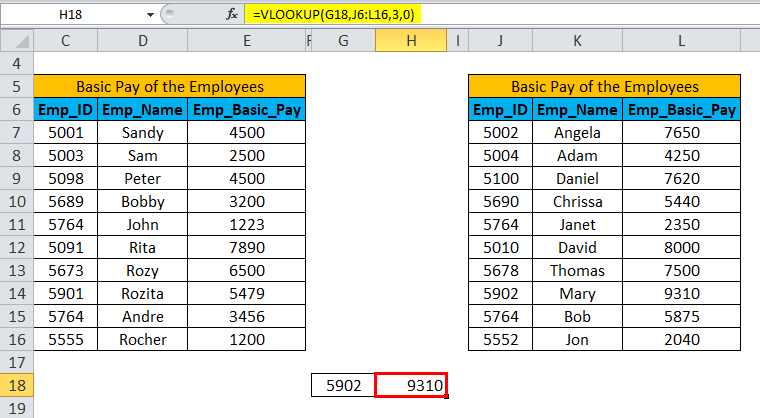 IFERROR with VLOOKUP Example 2-5