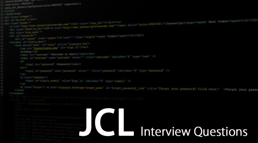 JCL-Interview-Questions