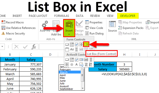 List Box in Excel