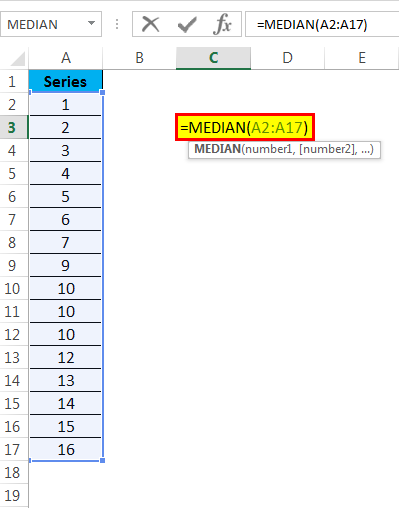 Median function example 1-2