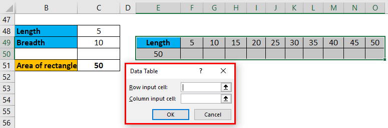 One Variable Data Table Example 1-8
