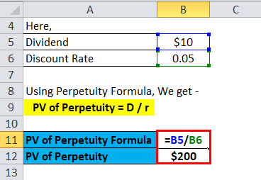Pv of Perpetuity Example