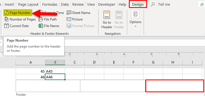 Page Numbers in Excel | Creating and Using Page Numbers in Excel