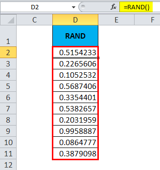 RAND Function
