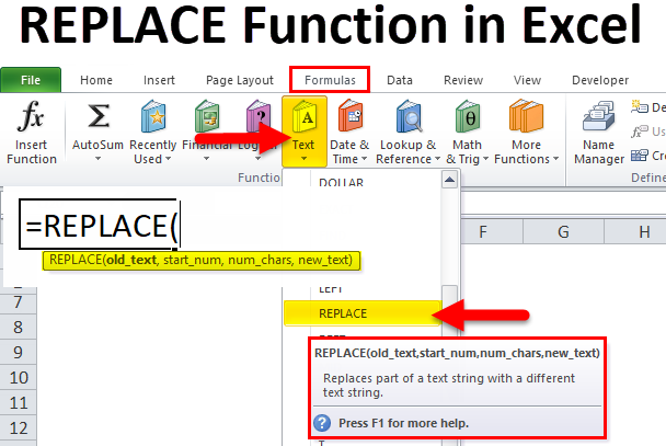 REPLACE in Excel