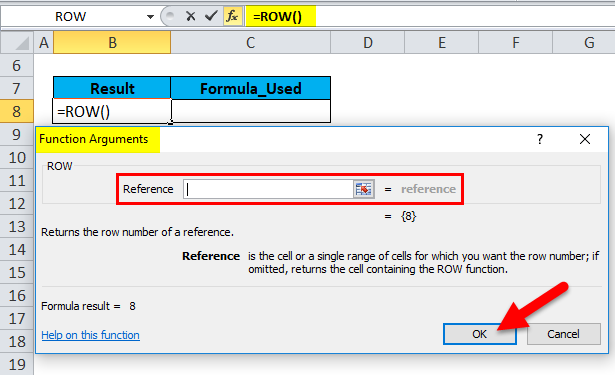 ROW in Excel (Formula, Examples) | How to Use ROW Function?