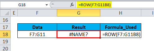 ROW Formula Error 1-2