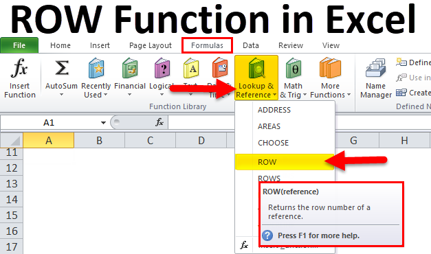 ROW Function in Excel