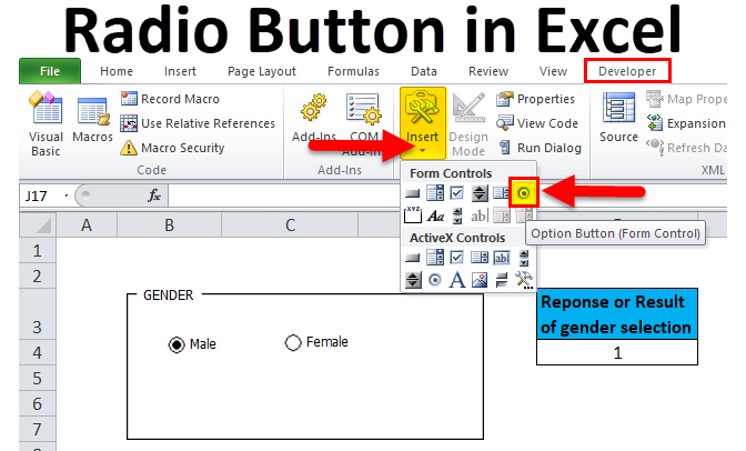 Radio Button in Excel