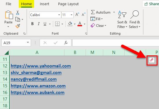 Remove Hyperlinks Example 2-4