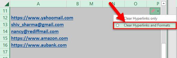Remove Hyperlinks Example 2-7