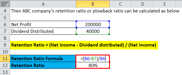 Retention Ratio Example 1-1