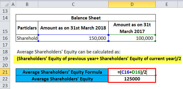 Return On Average Equity Example 1-1