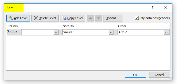 Sort Excel by Date Example 2-3