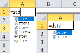 Standard Deviation Formulas appear