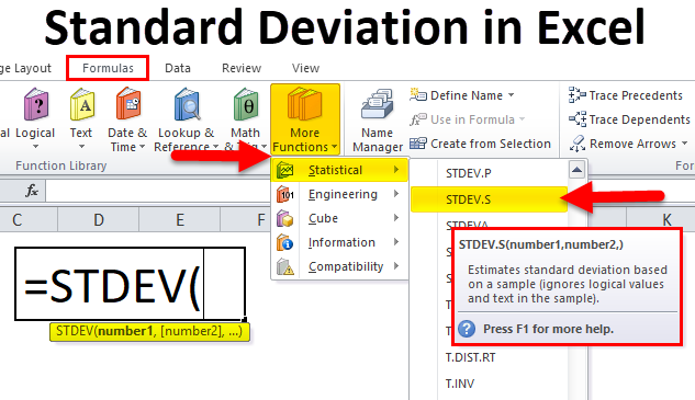 Standard Deviation in Excel (Formula, Examples) | How to Use?
