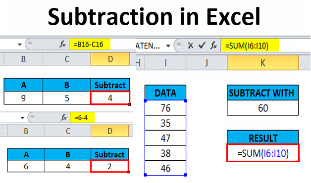 Subtraction in Excel