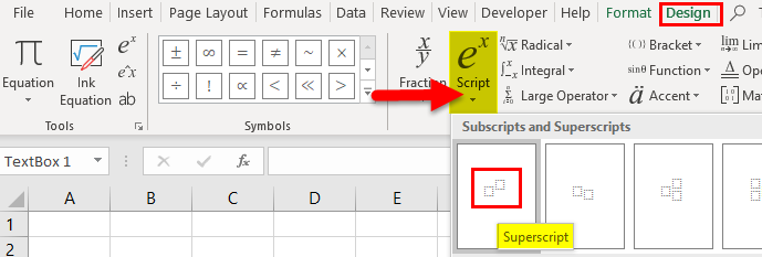 Superscript Example 2-2